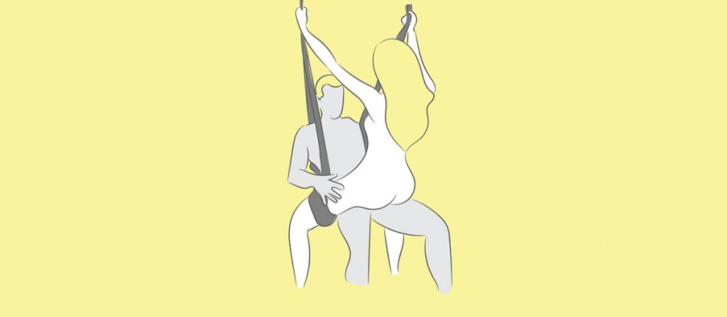 cowgirl sex swing position