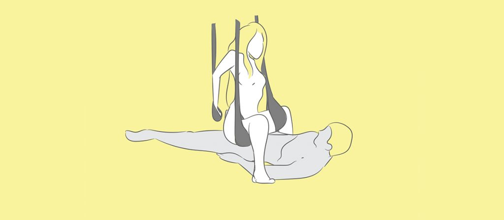the squat sex swing position