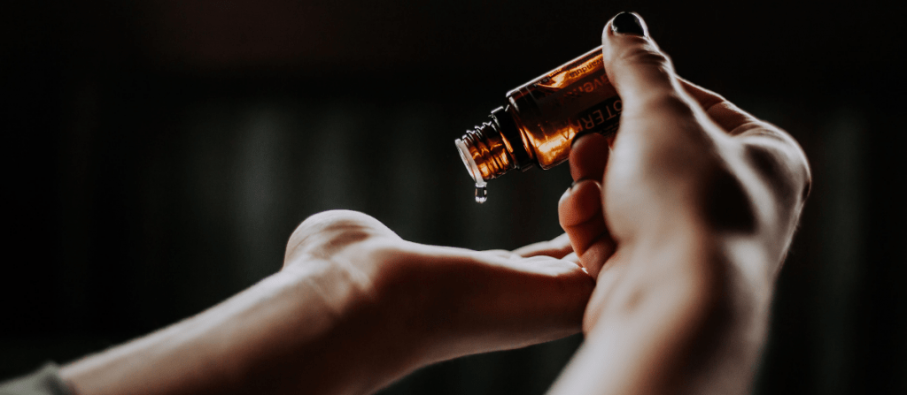 Natural Oil As Lubricants Female Hands holding Medicine