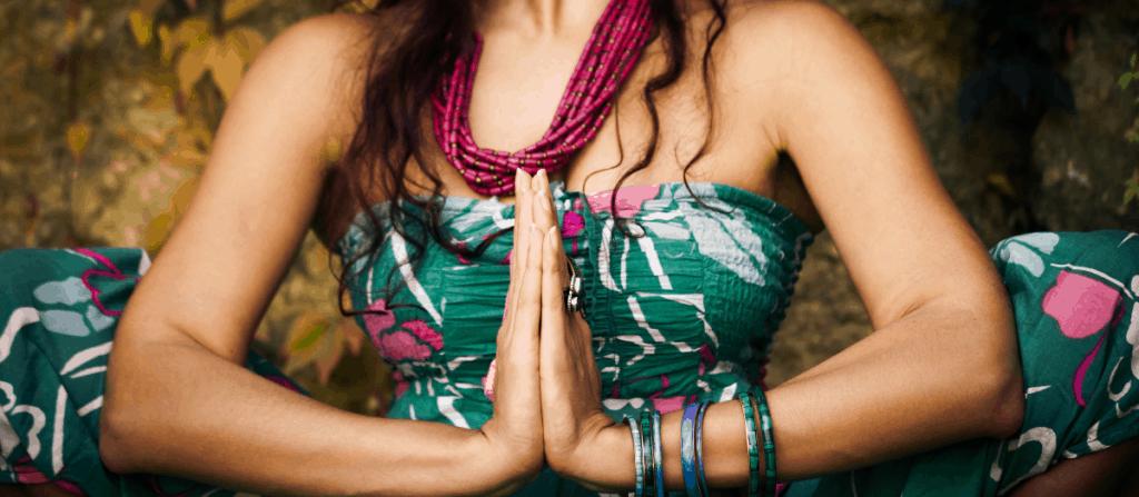 cock worship meditationg woman yoga