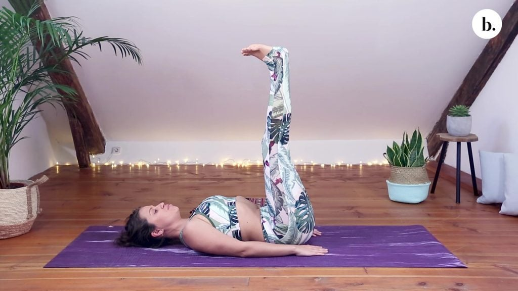 yoni egg leg lift position