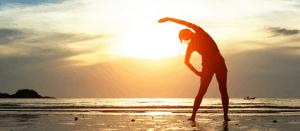 kegel balls exercises woman doing pilates yoga sunset