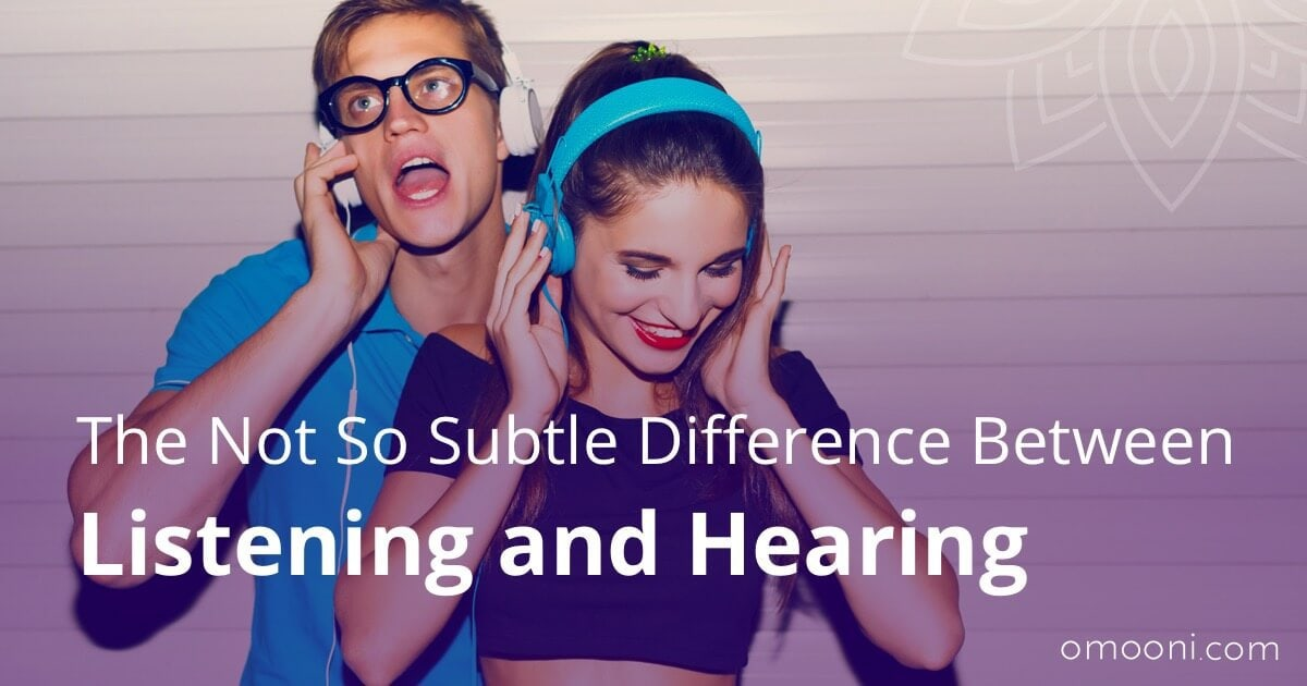 the difference between listening and hearing Physical difference between hearing and listening hearing is a step-by-step process, and, if something goes wrong during one of the steps, it's possible that your child may not be ignoring you by not listening, he may genuinely have a hearing problem.